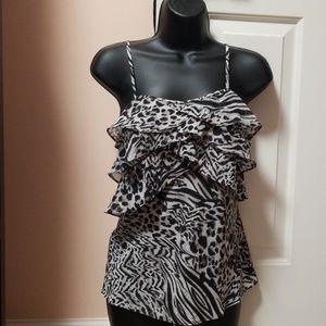 GUESS Zebra/Leopard printed Dressy Tank